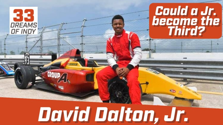 David Dalton Jr - African American Driver dreaming of the Indy 500