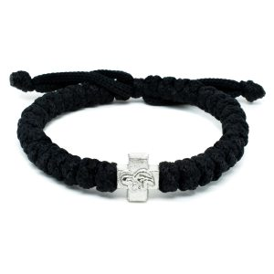 Adjustable black prayer rope bracelet