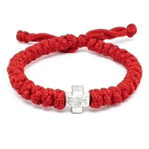 Adjustable Red Prayer Rope Bracelet