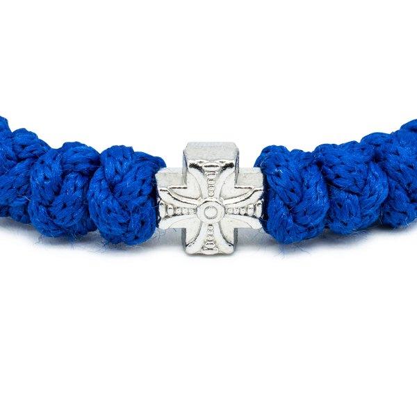 Adjustable Blue Prayer Rope Bracelet