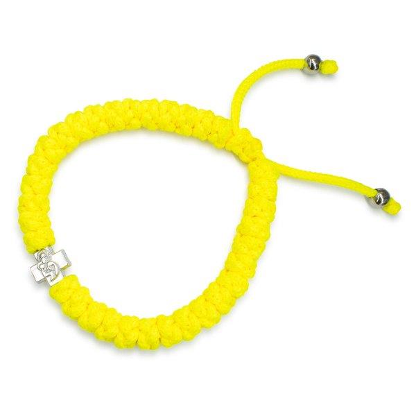 Adjustable Neon Yellow Prayer Bracelet