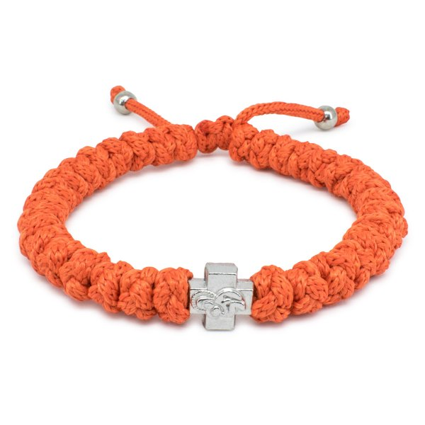 Adjustable Orange Prayer Rope Bracelet-0