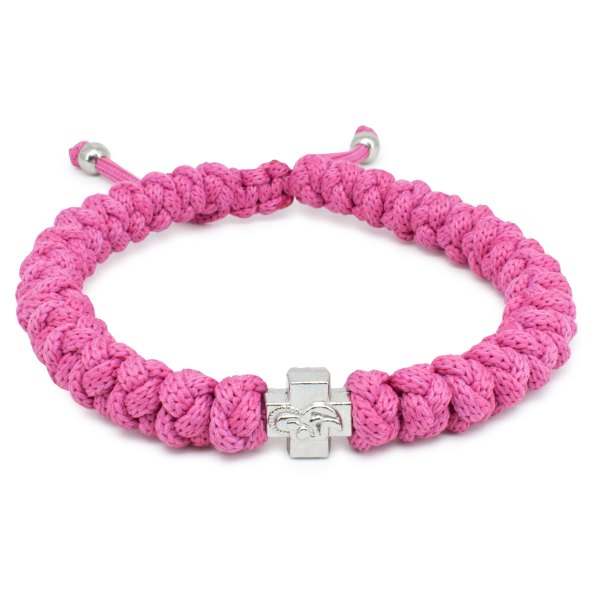 Adjustable Pink Prayer Rope Bracelet-0