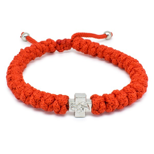 Adjustable Red Prayer Rope Bracelet-0