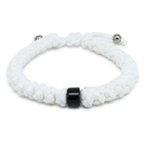 Black Beaded Adjustable White Prayer Rope Bracelet-0