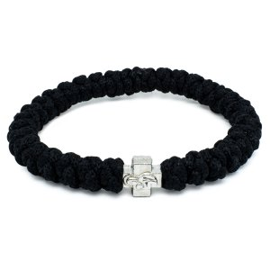 Black Prayer Rope Bracelet-0