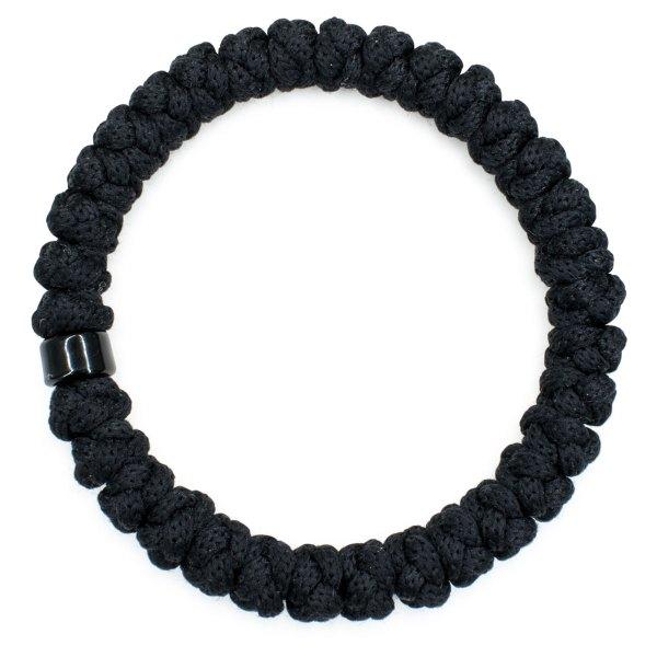 Black Prayer Bracelet with Bead