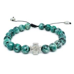 Facetted Ruby Zoist Stone Orthodox Bracelet-0