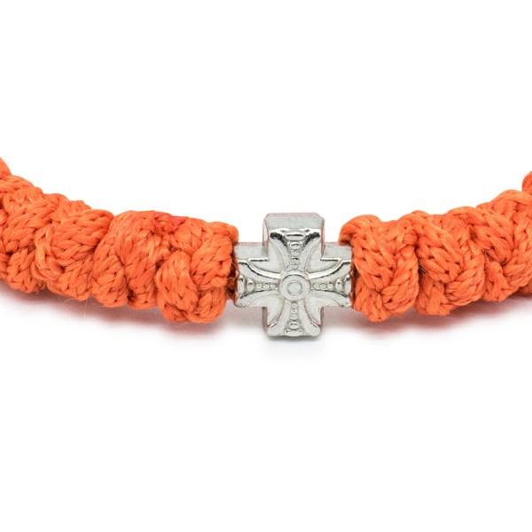 Adjustable Orange Prayer Bracelet