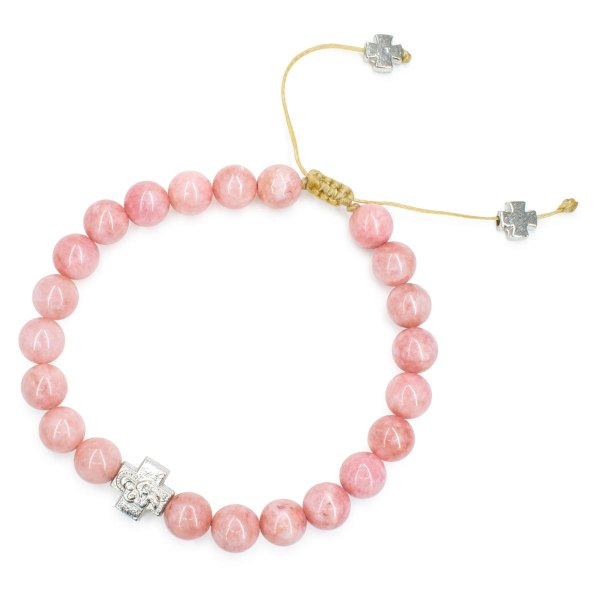 Divine Rose Candy Jade Stone Prayer Bracelet