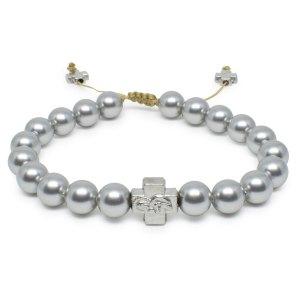 Silver Swarovski Pearl Orthodox Bracelet-0