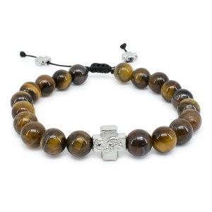 Tiger-Eye Stone Orthodox Bracelet-0