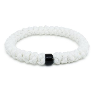White Prayer Rope Bracelet with Bead-0