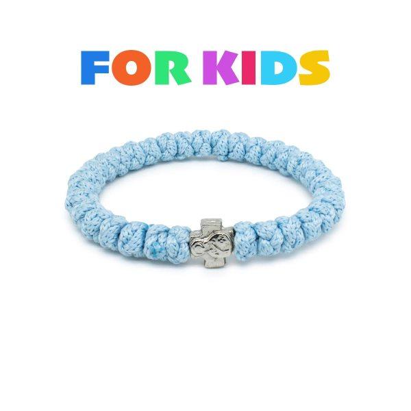 Light Blue Prayer Rope Bracelet for Kids