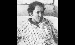 Passenger Edward Alexander. This poor quality image is a scan from a newspaper article showing Ed at the hospital after the accident.