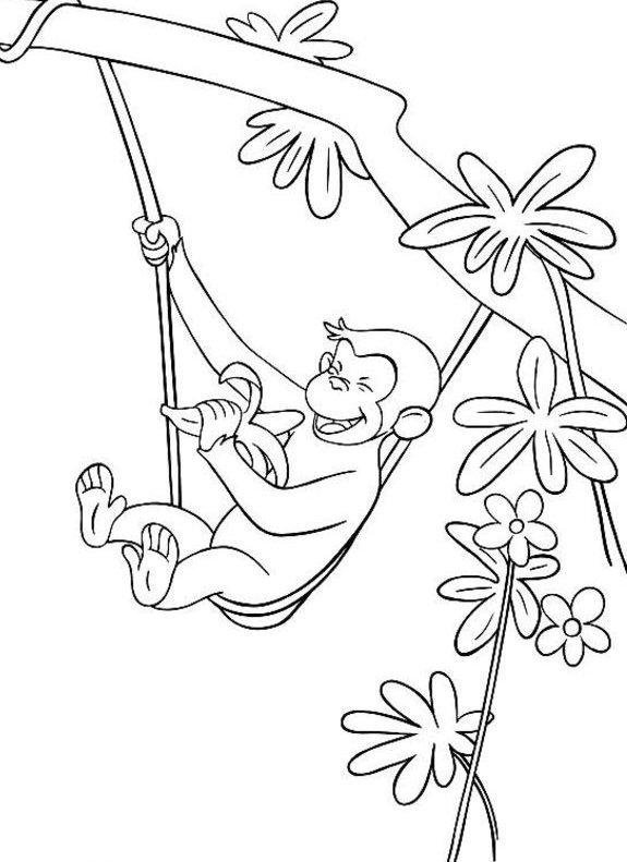 Curious George Coloring Pages 360ColoringPages
