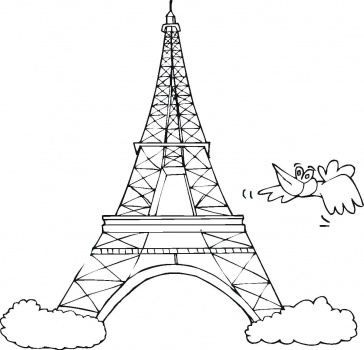 Eiffel Tower Coloring Pages 360ColoringPages