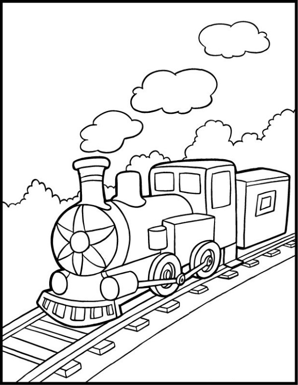 train coloring pages # 36