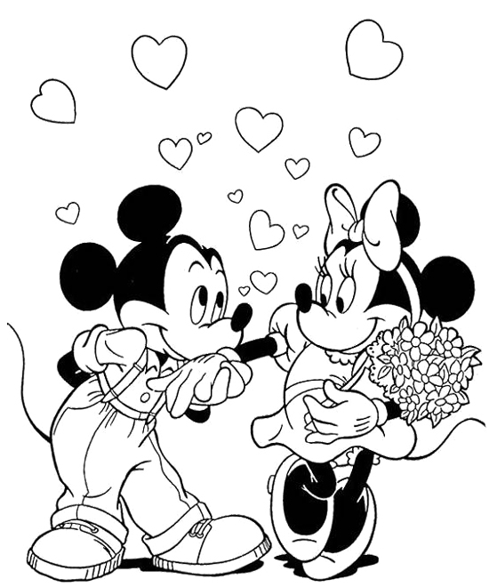 Black White Large And Mickey Mouse And Pictures Minnie