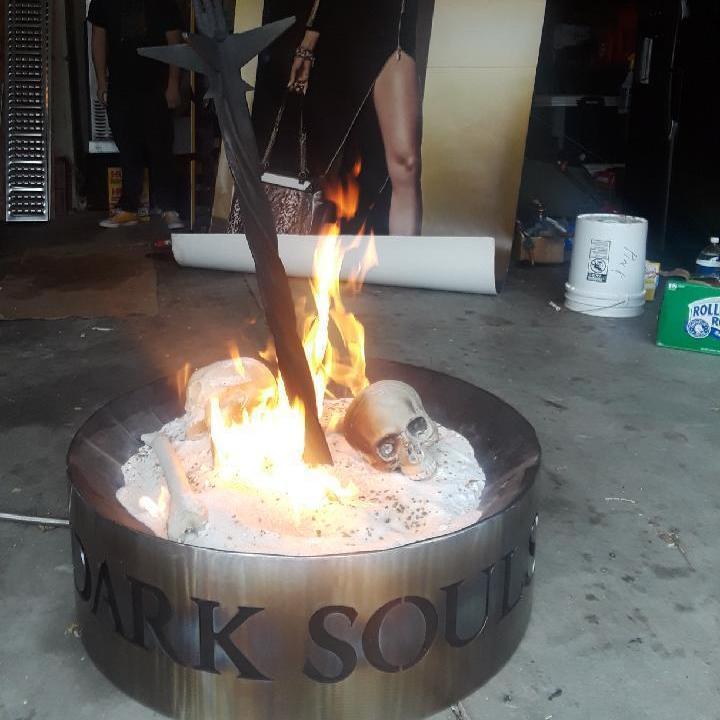 Damnnnnnnn dude this is dedication .... he made a Dark Souls bonfire. Whose up f 1