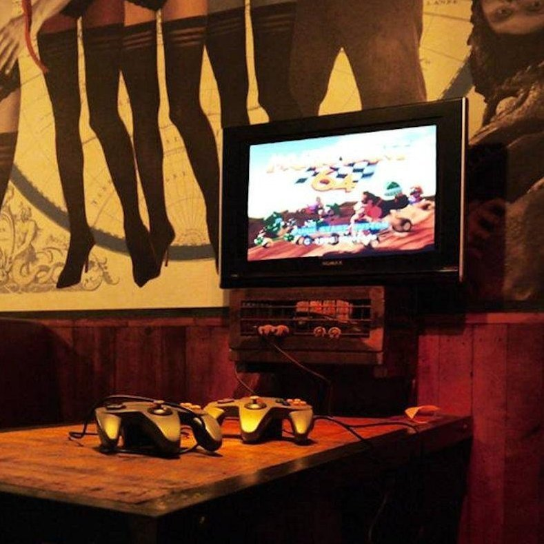 Hold Fast bar in  ... beer and  In this case blurry  Great place for a date if y... 2