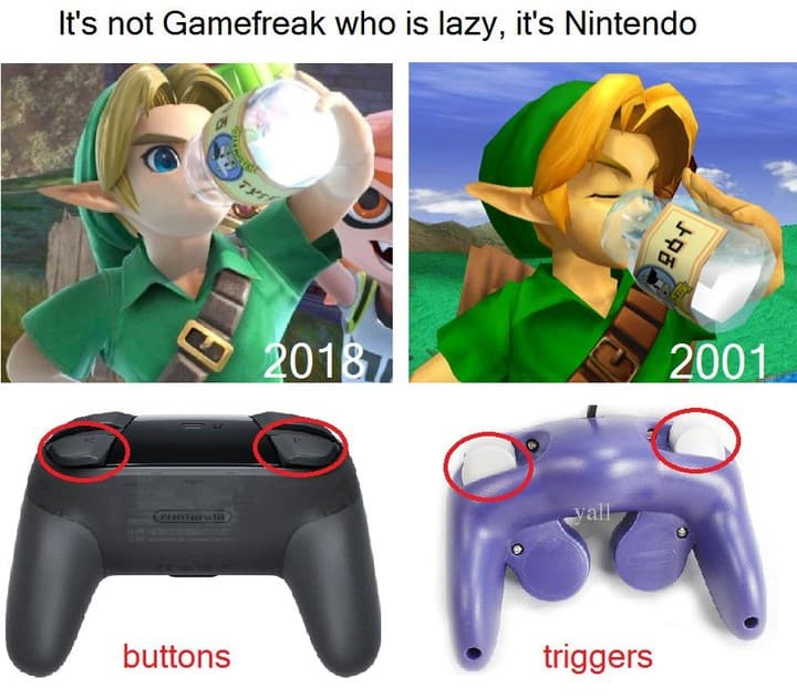 Gamefreak taking the blame for being lazy....it's Nintendo that's been lazy. Mar
