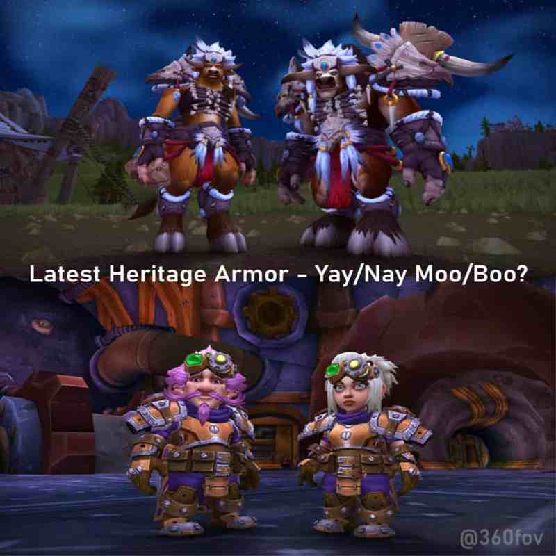 Tbf, Yay/Moo from me. Heritage Armor Looks alright. . . .             . . . . * 1
