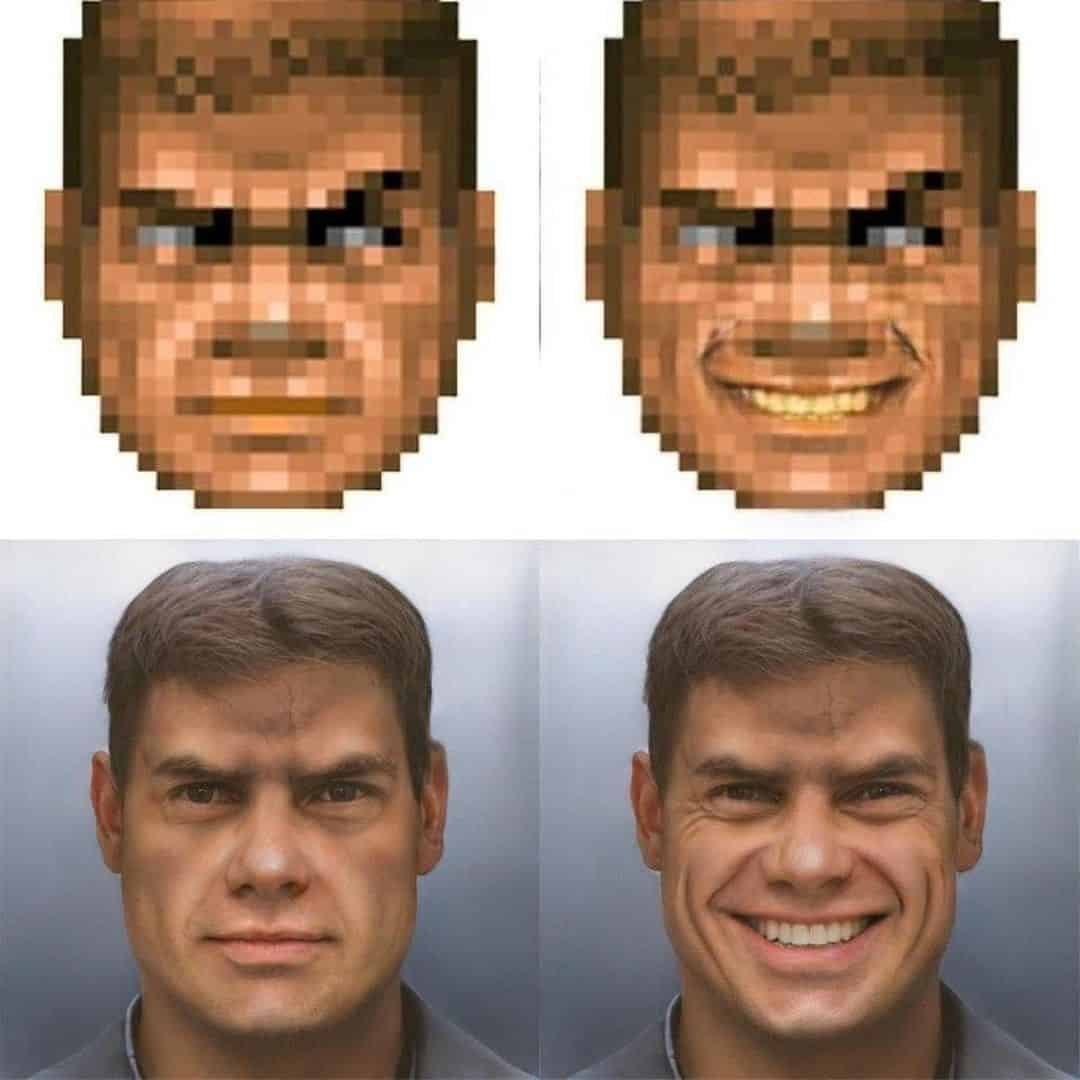 The is Doom Guy generated using Neural Networks...I studied that as as a module