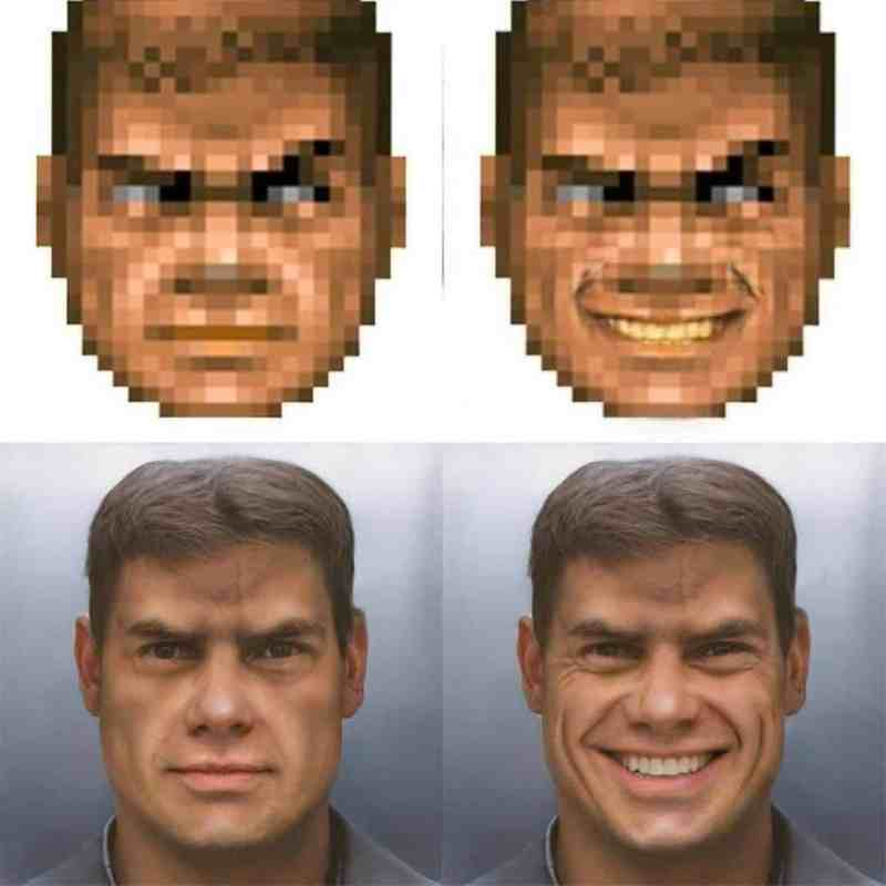 The is Doom Guy generated using Neural Networks...I studied that as as a module 1
