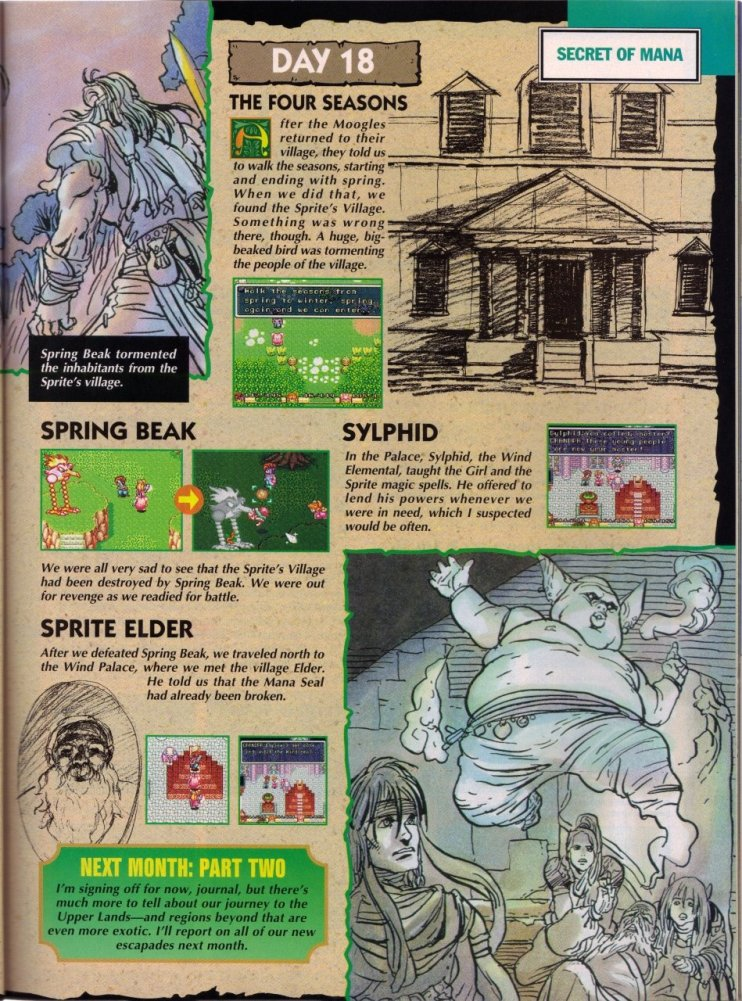 Secret of Mana - Complete Nintendo Power Guide 12 JRPG, Magazine, Nintendo Power, Secret of Mana