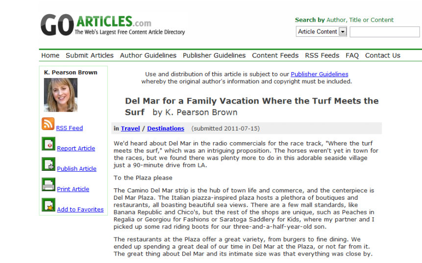 Del Mar for a Family Vacation on Go Articles