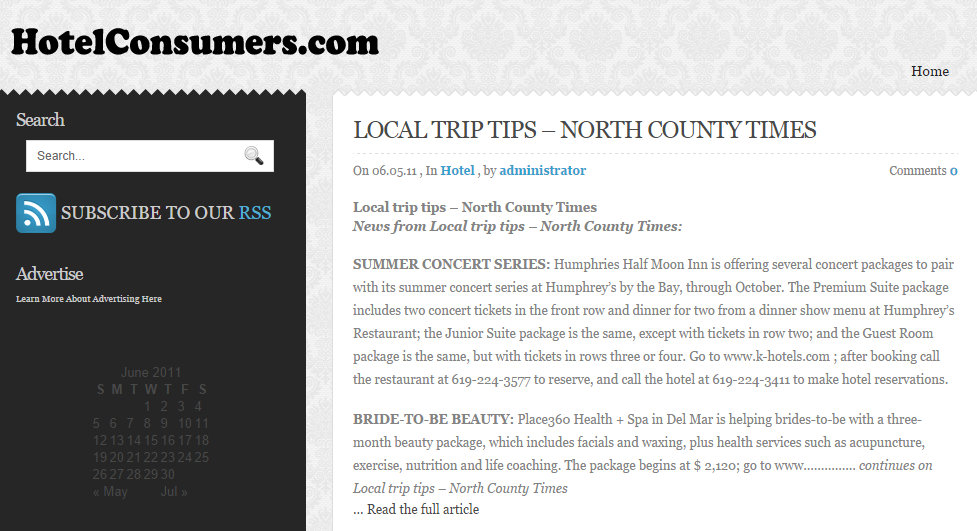 Local Trip Tips on hotelconsumers.com
