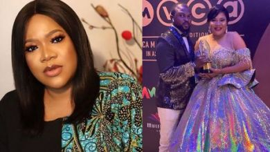 Photo of Watch Actress Toyin Abraham Giving Her Husband A Lap Dance (Video)