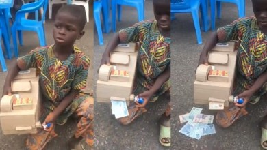 Photo of Talented young boy uses carton to build ATM that dispenses cash (Video)