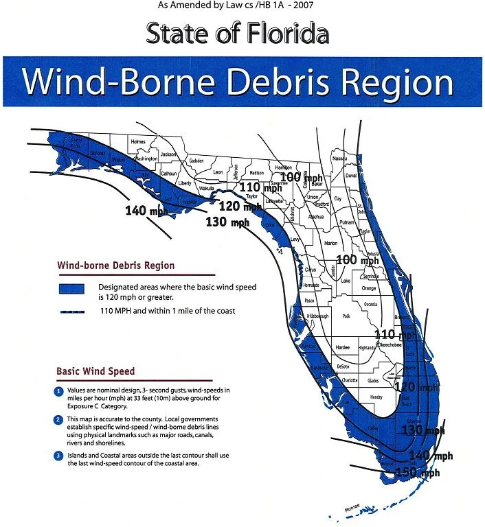 Florida Wind Map 360 Home Inspections Llc