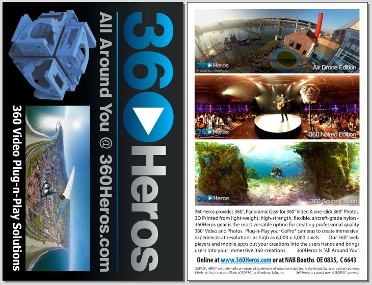 NAB Oversized Post Card and Handout.  Presenting Product Highlights and NAB booth Locations