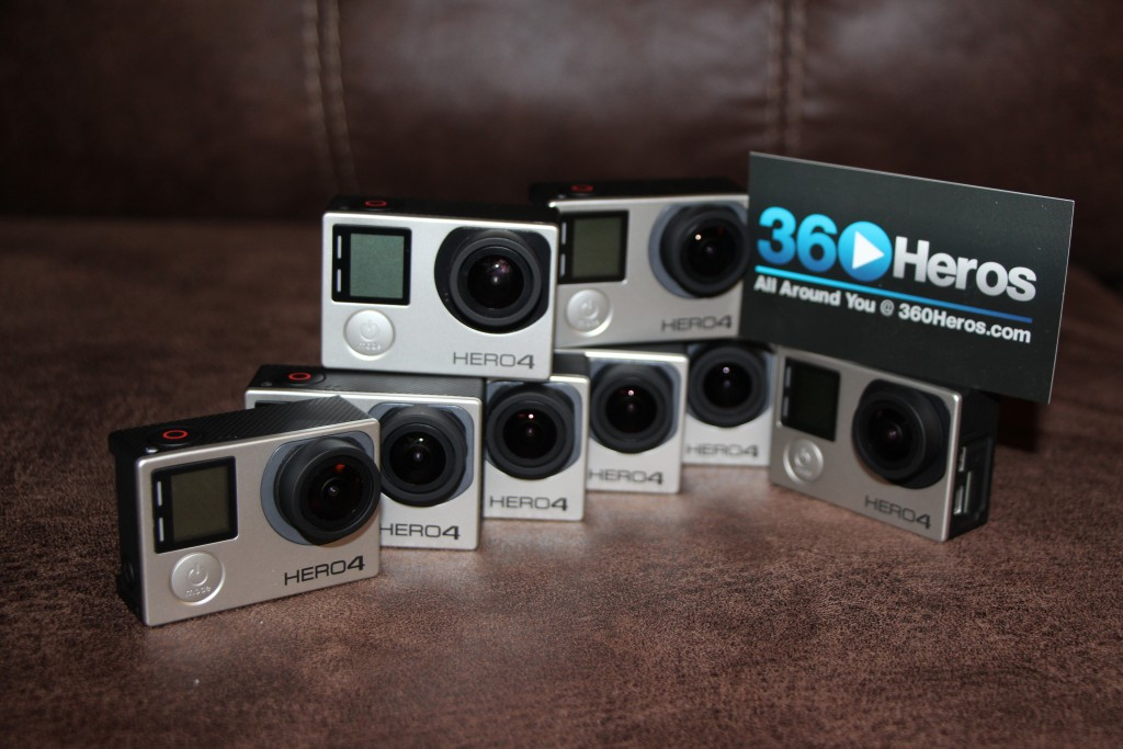 GoPro Hero4s are fully compatible with 360Heros gear!