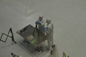 NASA engineers setup Jason's 360Heros mount to capture the Goddard clean room.