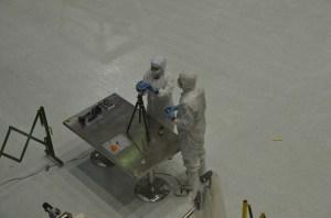 NASA engineers setup Jason's 360Heros mount to capture the Goddard clean room.