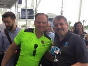 Nik Wallenda & 360Heros CEO Michael Kintner prior to the record setting walk.