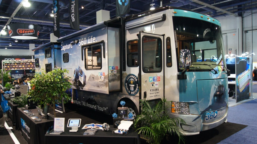 The 360RV on the CES 2016 show floor.