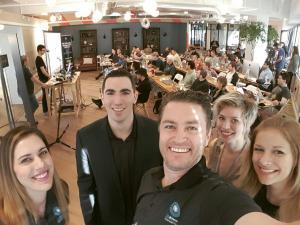 360Heros team members at the new office during the VLRA School workshop