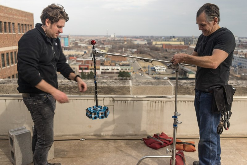 3DPRO rigging on set