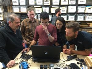 CEO, Michael Kintner teaching a VR workshop at the MythBusters Headquarters