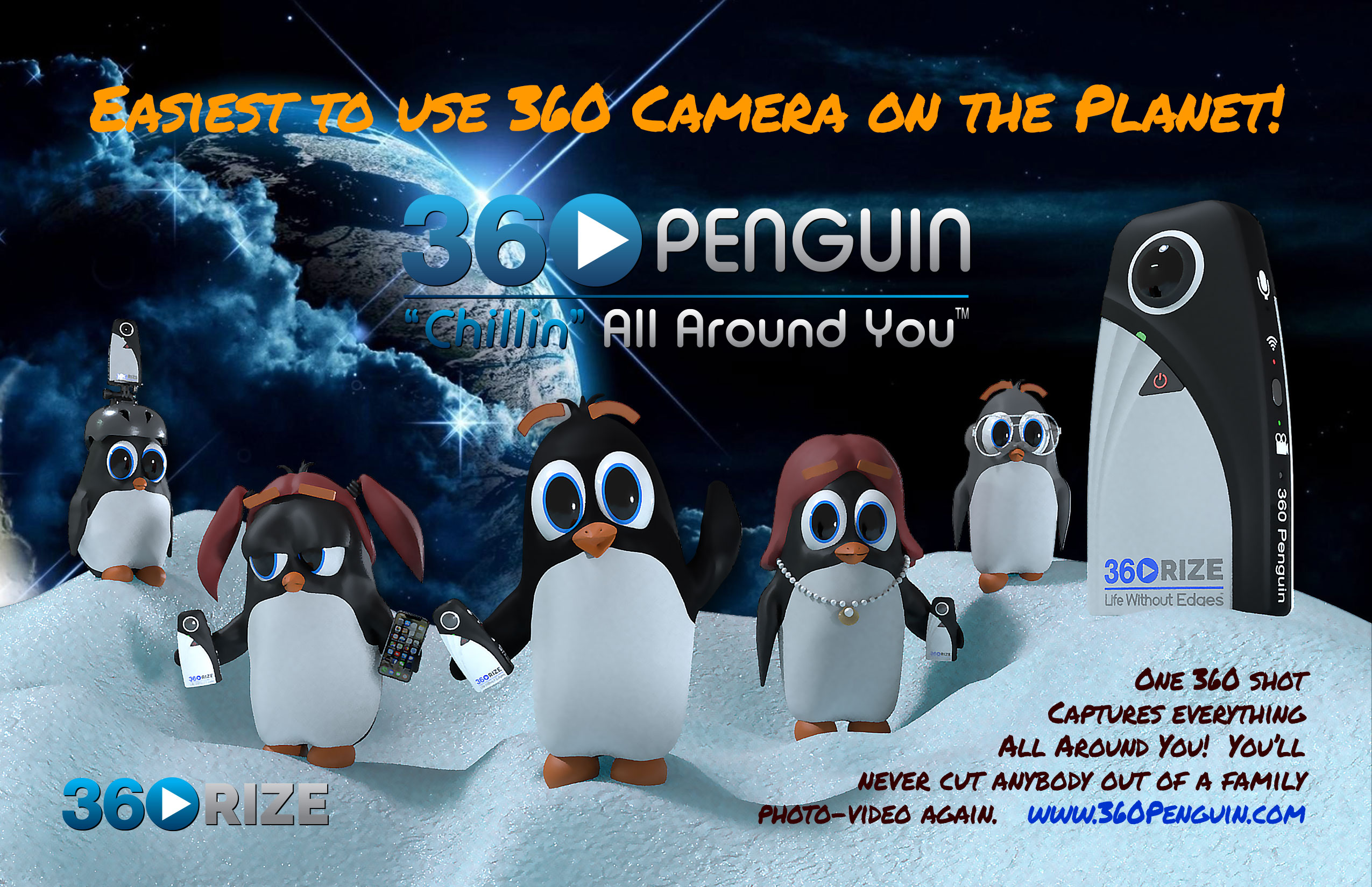 360Rize Easy Use 360Penguin Camera