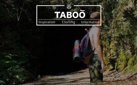 TabooInternational.us - Splash page