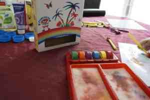 Peinture sans pot à eau, ile aux couleurs