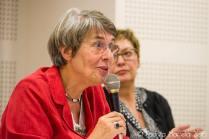 Mit Agnès Spiquel, Vorsitzende der Société des Études Camusiennes. ©Foto: Andrea Martella