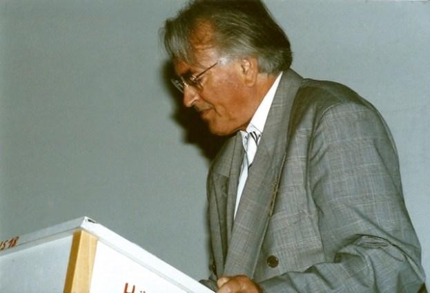 Prof. Dr. Wolfgang Janke bei seiner Abschiedsvorlesung an der Bergischen Universität Wuppertal am 7.Juli 1993. ©Foto: privat