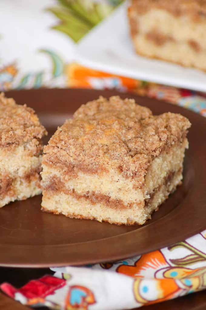 Bet you can't resist the two layers of cinnamon streusel in this Cinnamon SourCream Coffee Cake!